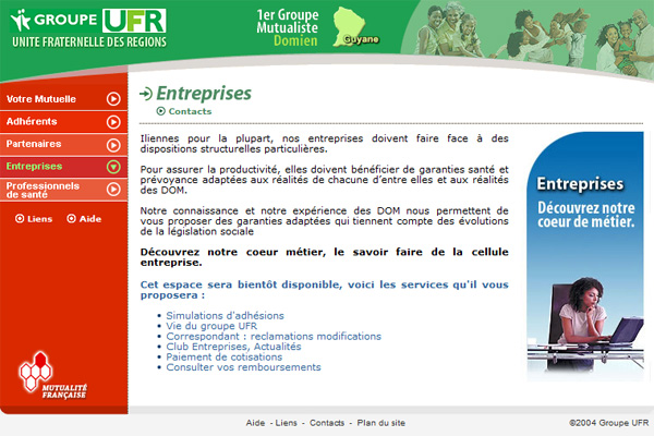 Site Internet - Groupe UFR