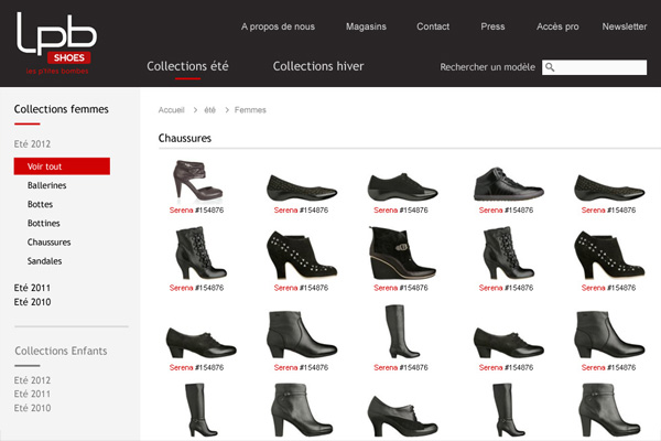 Site Internet - LPB Shoes